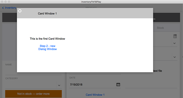 FileMaker Card Window