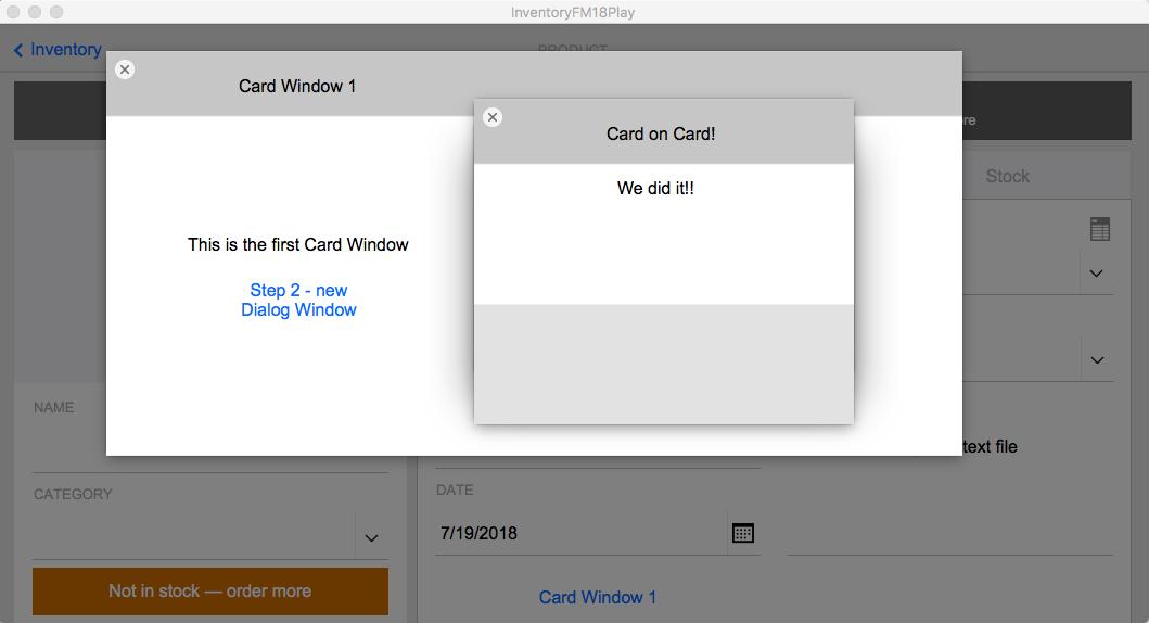 FileMaker Card Window