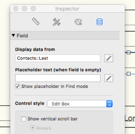 Specify required fields in FileMaker Pro