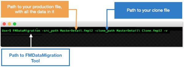 FileMaker Data Migration Tool Screenshot 2