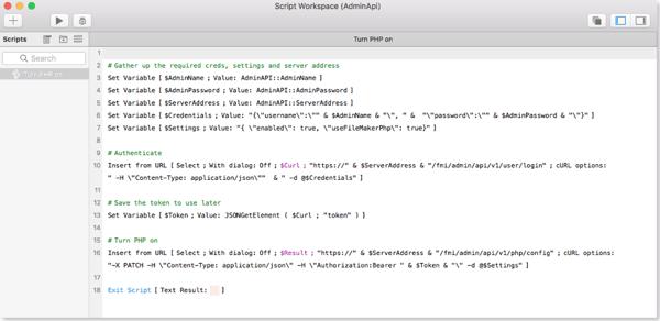 FileMaker Admin API