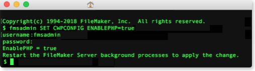 FileMaker Command Line