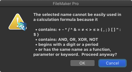 FileMaker Naming Conventions