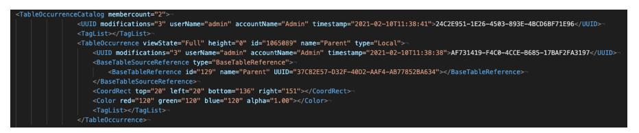 FileMaker XML Files