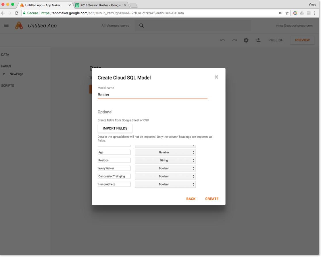 Google App Maker Screenshot 2