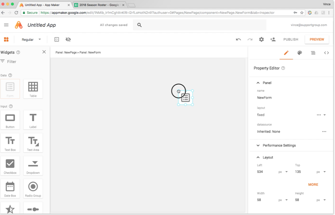 Google App Maker Screenshot 4
