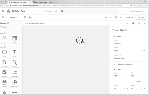 Google App Maker Screenshot 4