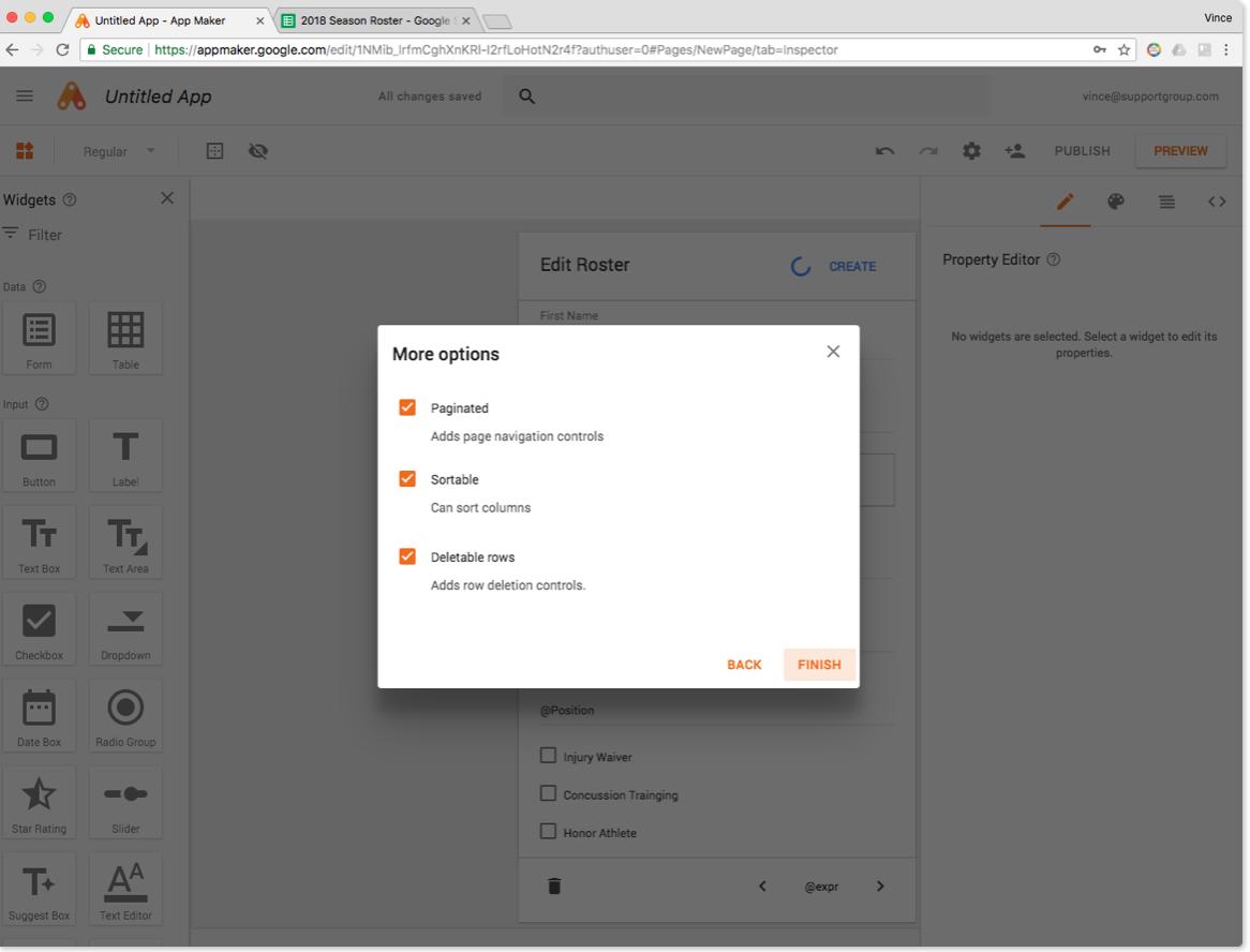 Google App Maker Screenshot 8