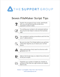 FileMaker Script Tips