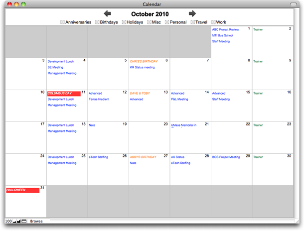 Creating Calendars With Portal Filters In Filemaker Pro