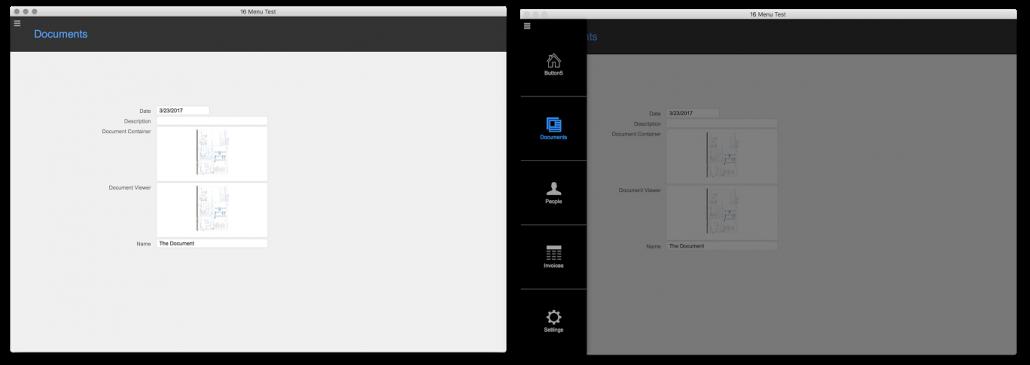FileMaker Cards menu demo
