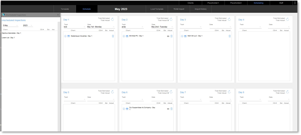 FileMaker tracking and scheduling app