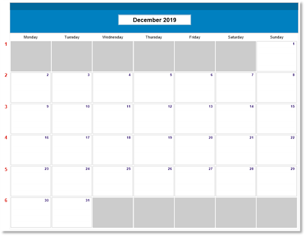 FileMaker Calendars Monday Start of Week