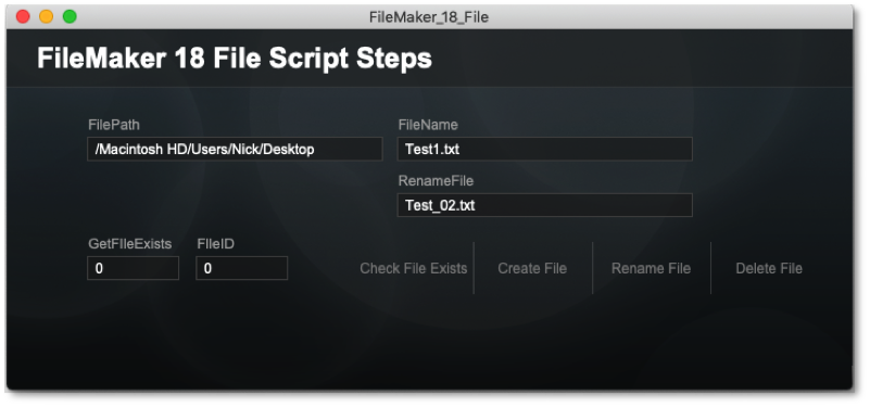 file-based script steps in FileMaker 81