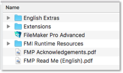 FileMaker 18 version number in product name