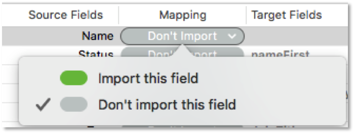 New Import Interface in FileMaker 18
