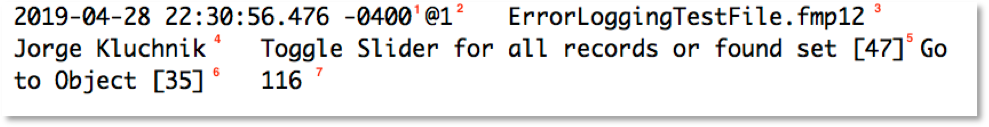 FileMaker 18 Script Error Logging